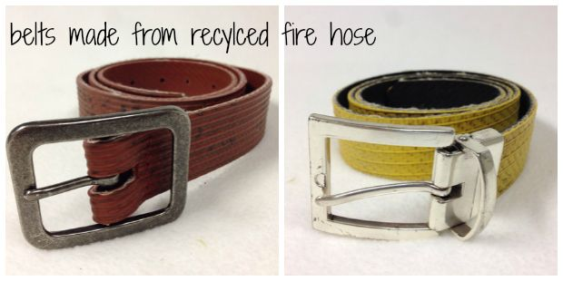 Belts Made From Recycled Fire Hose -- Gift Ideas For