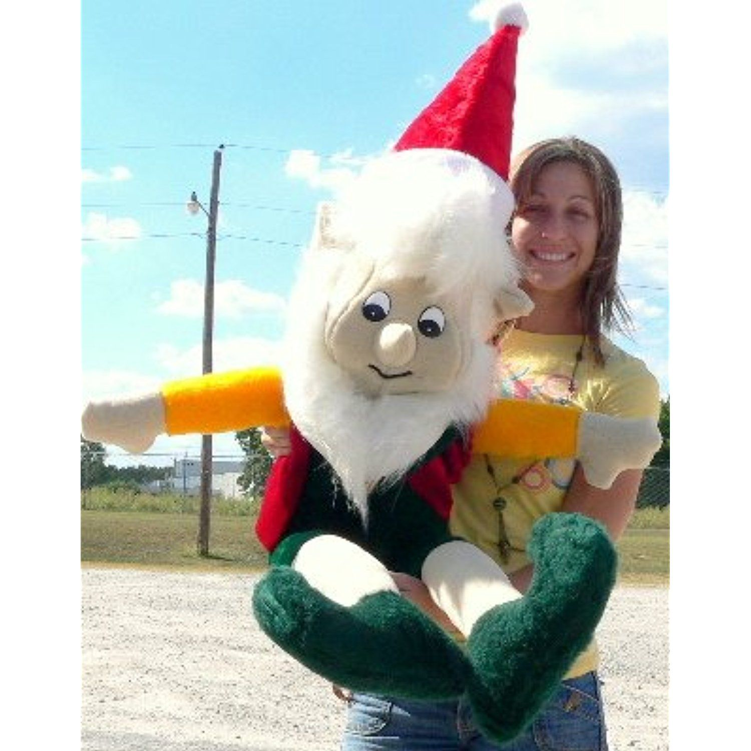 American Made Giant Stuffed Christmas Elf 3 Feet Tall Soft Large