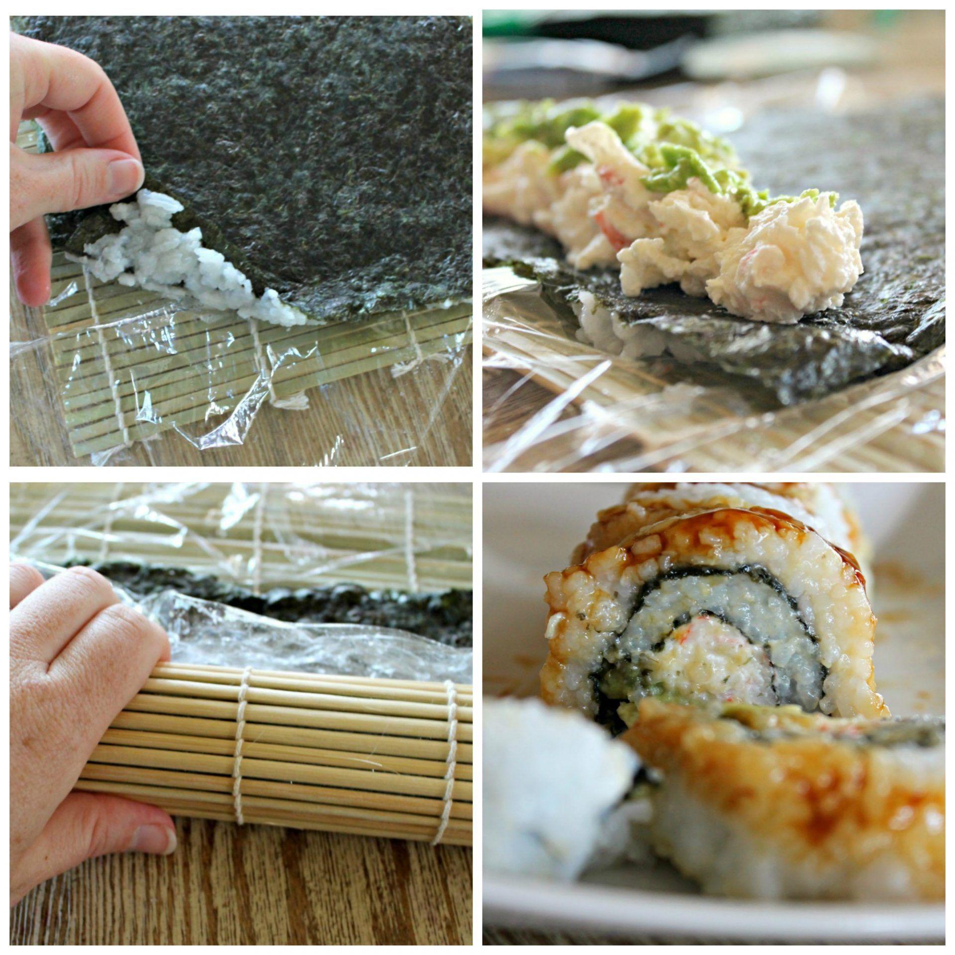 How To Make Homemade Sushi Crab Sushi Recipe Homemade Sushi Sushi Recipes Homemade Crab Sushi