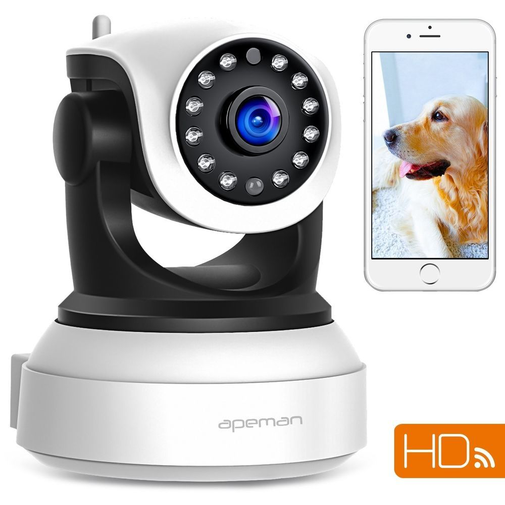 Wireless Full HD Pan Baby Pet Monitor Network Security IP Camera IR WiFi Webcam