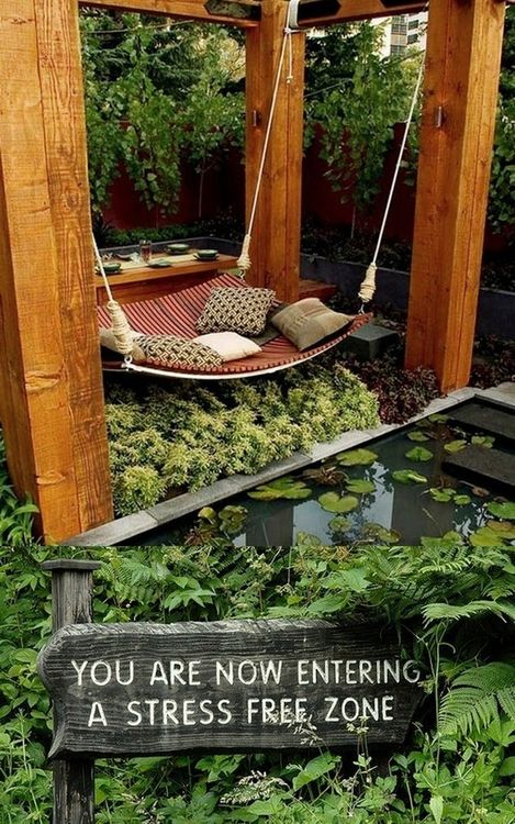 Relaxing zone : home ideas : awesome for backyard