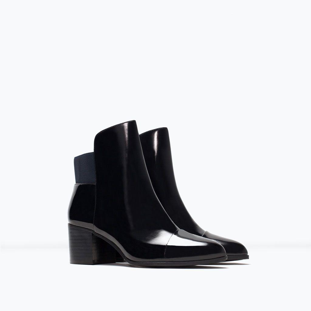 Zara Shoes Bags Elastische Stiefelette Mit Absatz Hakken Schoenen Zara