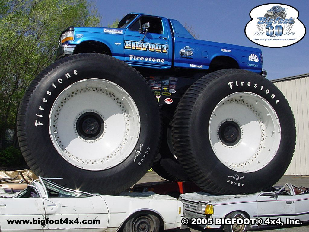 A Monster Truck Is A Vehicle That Is Typically Styled After Pickup Trucks Bodies Modified Or Purposely Built With Extremely Monster Trucks Trucks Ford Trucks