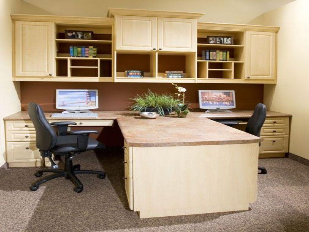 Two Desk Home Office Ideas Dual Desk Home Office House Plans With Office Home Office With Two Desks Home Office Desks Home Office Design Home Office Decor