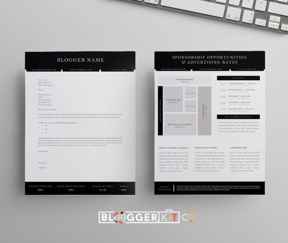 Blog Sponsorship Proposal Letter Template Ad Rate by BloggerKitCo