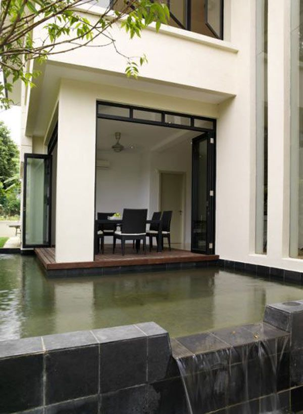 Exterior aspect of The Lotus House in Malaysia by 29 Design