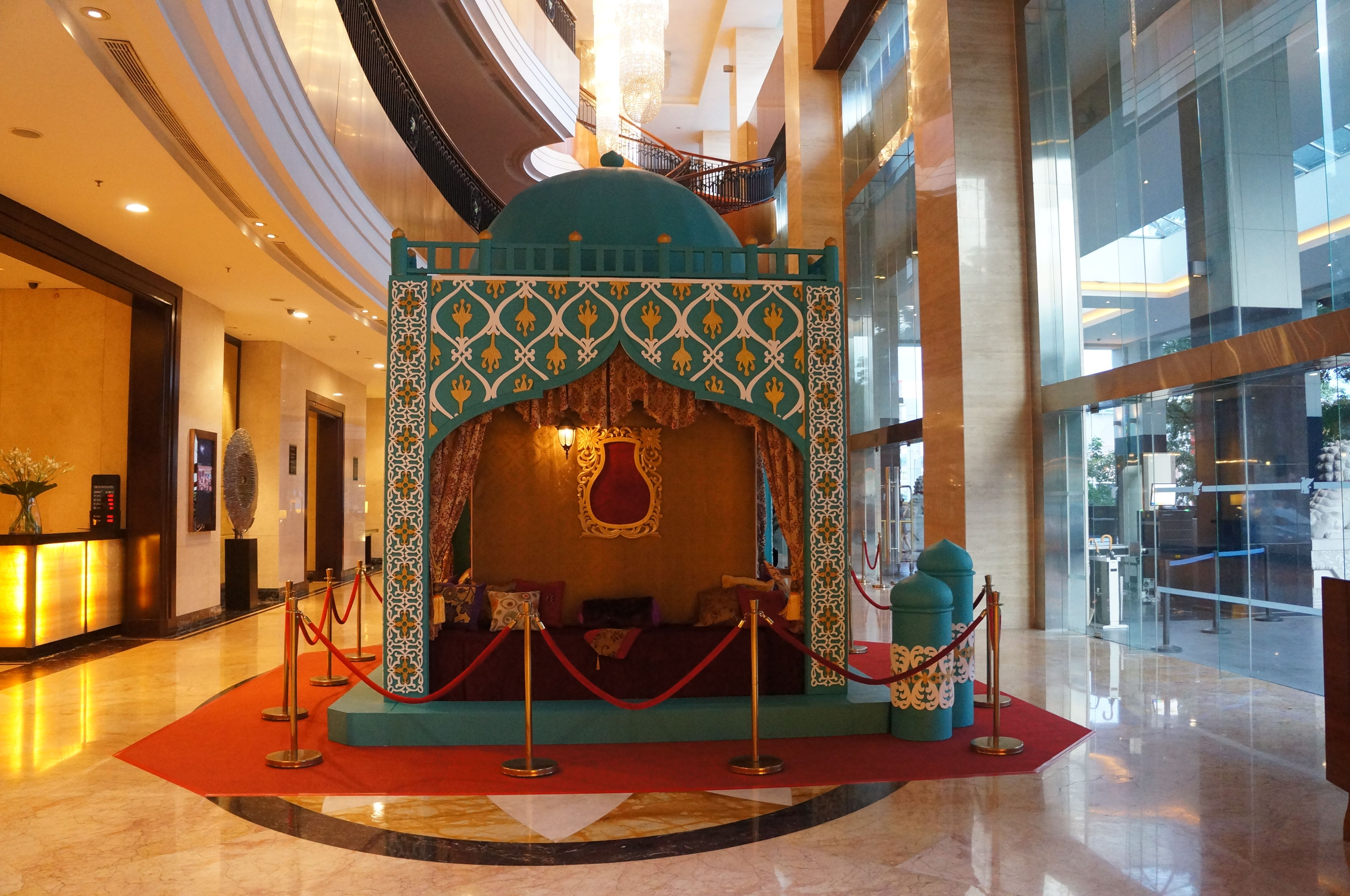 The jw marriott has been nicely decorated with a ramadan for Hotel decor items