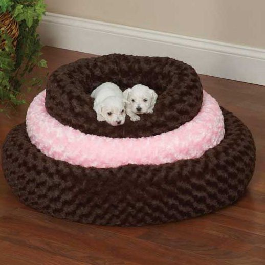 Slumber Pet Swirl Plush Donut Dog Bed