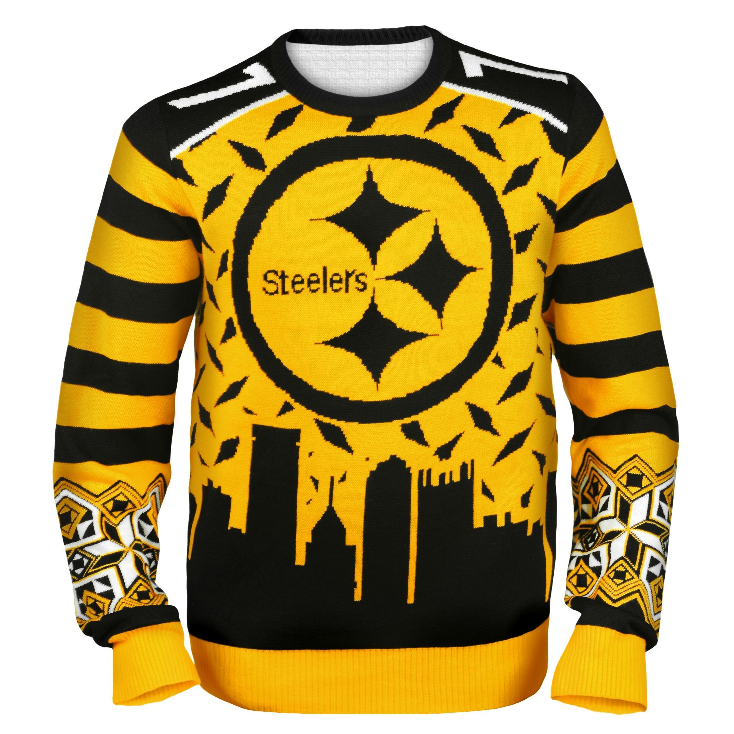 Pittsburgh Steelers Ugly Christmas Sweaters | Black and Yellow ...