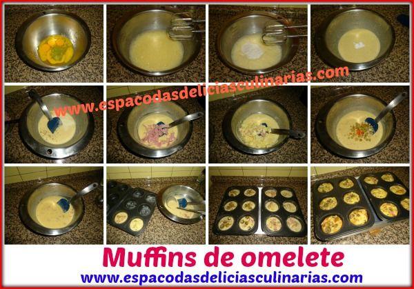 omelete em forminhas de cupcakes - Pesquisa Google