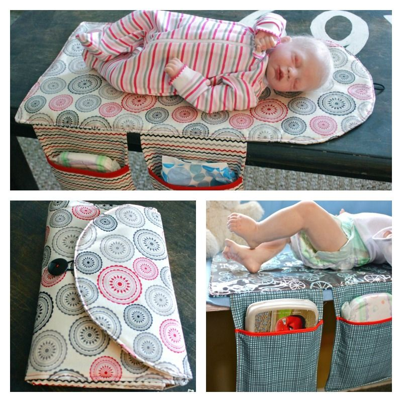 Diy Travel Diaper Changing Pad And Clutch Bag Changing Pad Clutch
