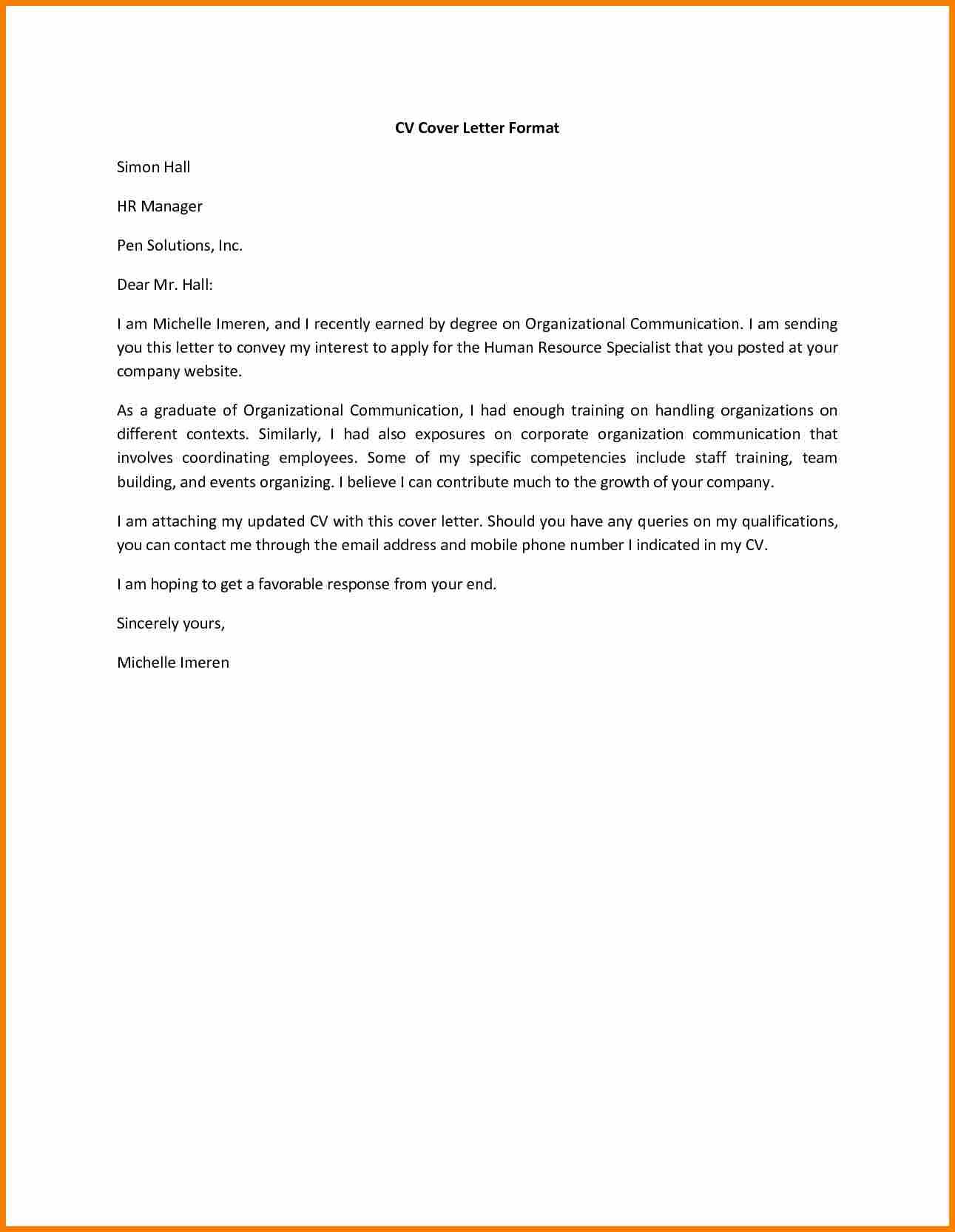 Resume Application Letter Cover For Letters Sample Job Appeal