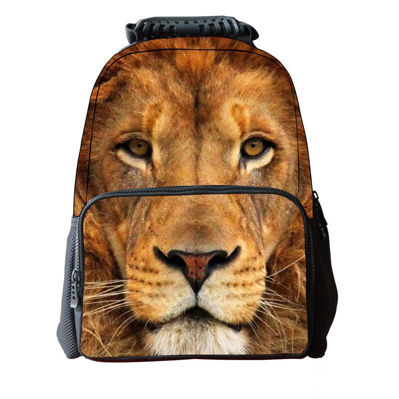 8795f64072fa Cute Horse Lion 3D Animal Print Bookbag Boys Girls Rucksack School Bags  Backpack