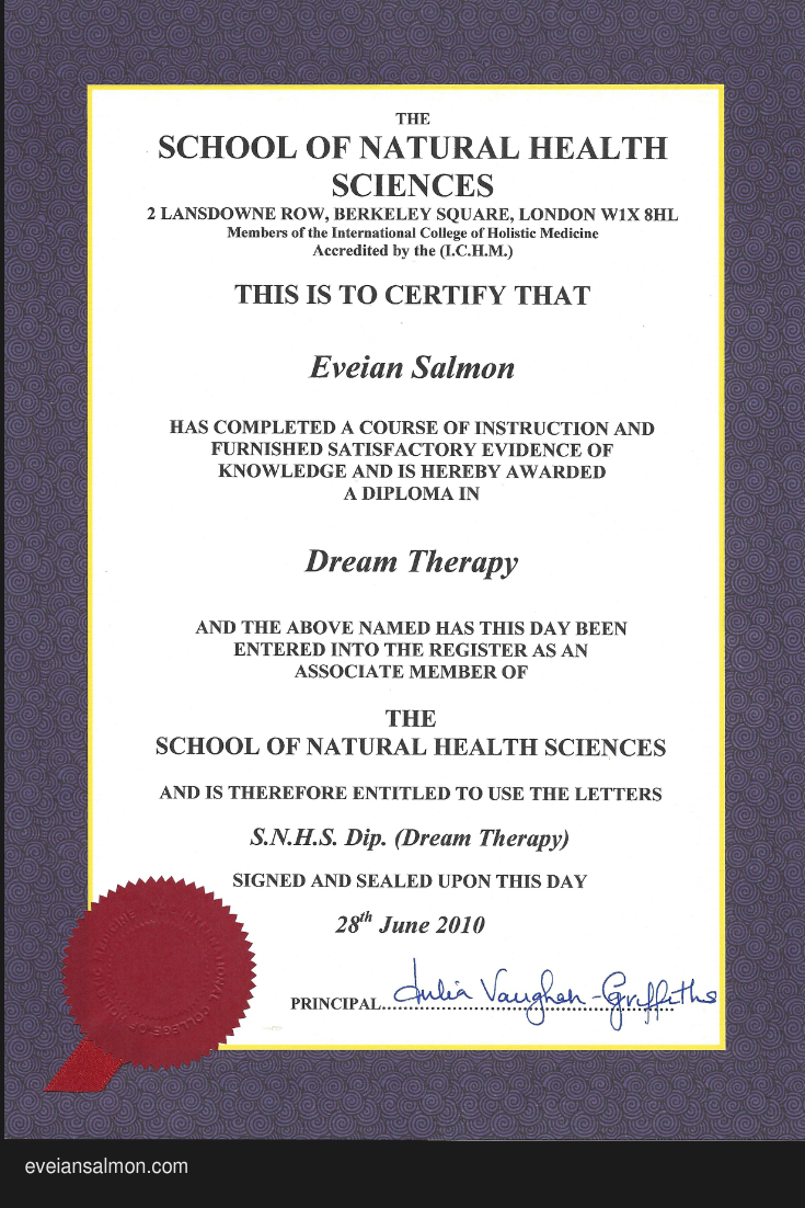 A Certified Dream Therapist Learning and development