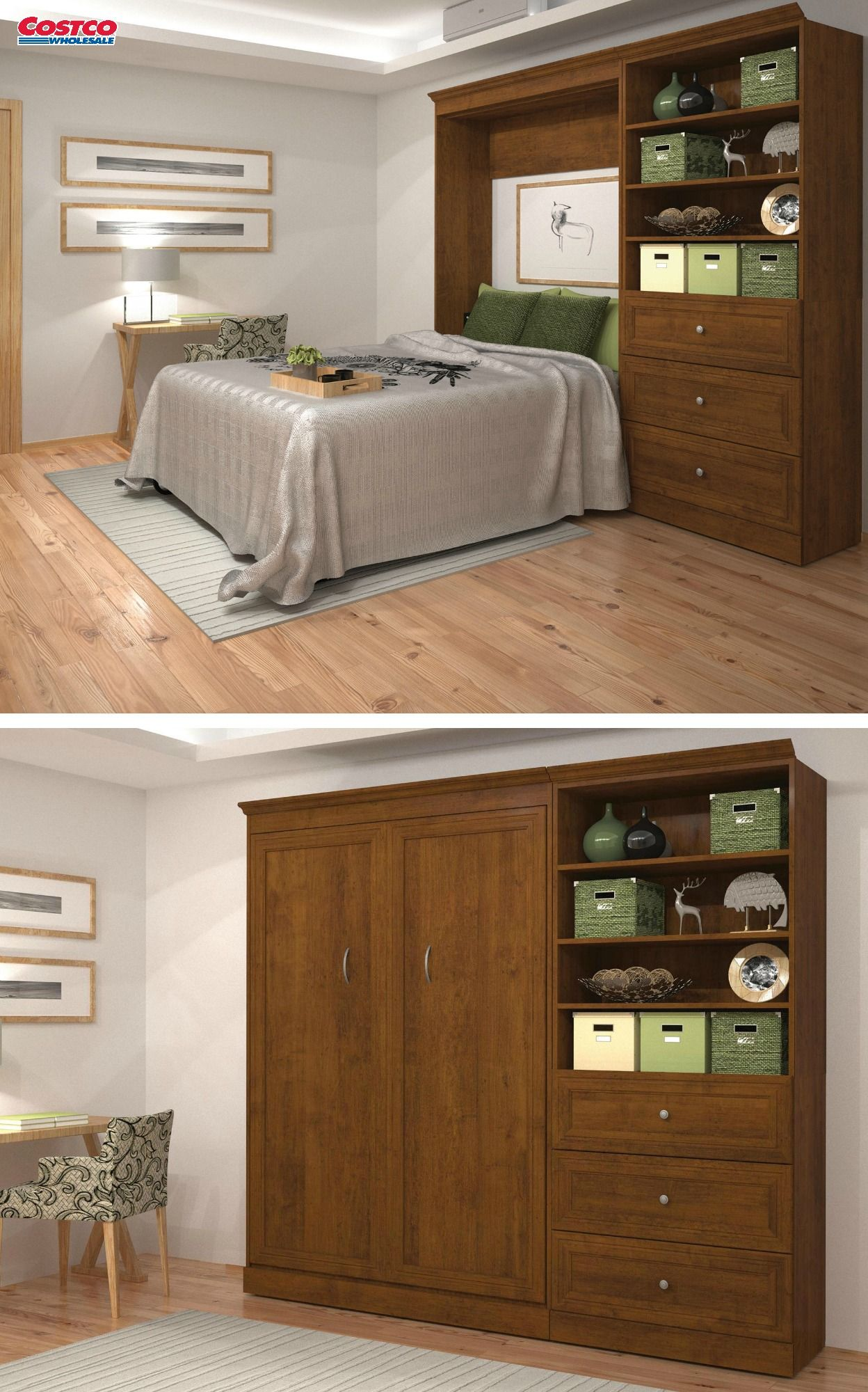 Bestar S New Audrea Wall Bed Kit Comes Equipped With A 36 Storage