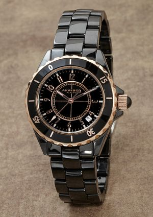 In love with black ceramic watches