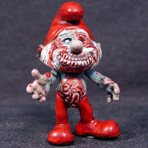 zombie papa smurf just because pinterest. Black Bedroom Furniture Sets. Home Design Ideas