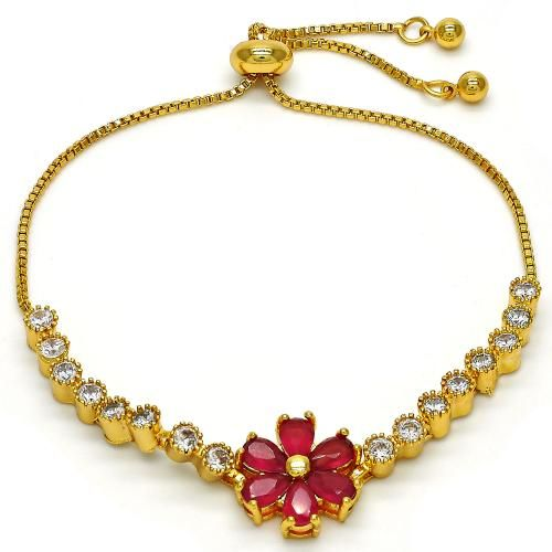 1f59b9bb5187 Flower Fancy Bracelet Gold Layered Gold Plated Gold Filled Milanus Jewelry  03.210.0029.10