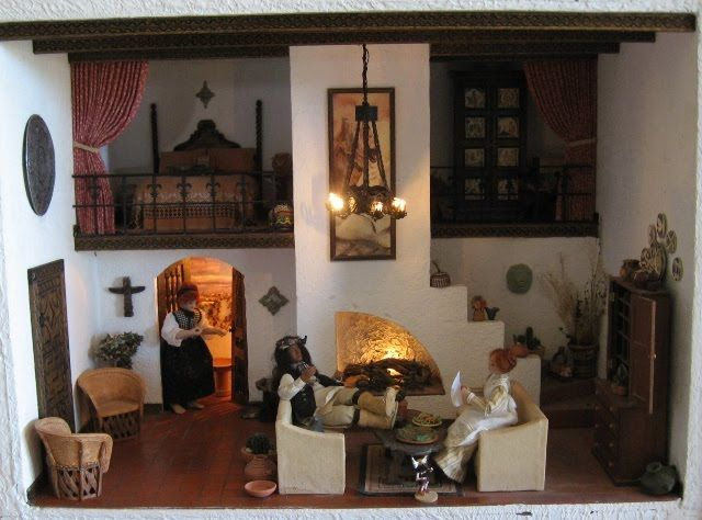 Love This Spanish Adobe Style Dollhouse Image By Casey S
