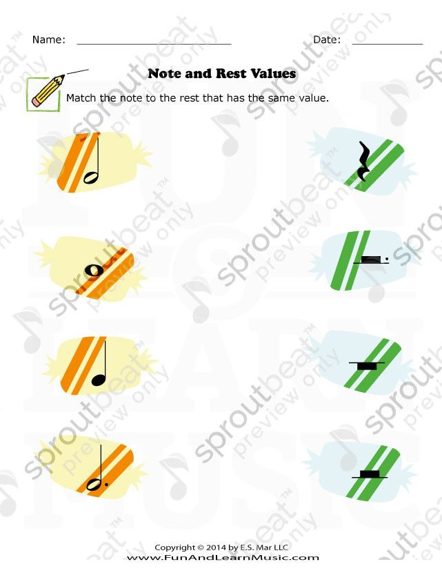 Note And Rest Value Rest Value Pinterest Music Worksheets And