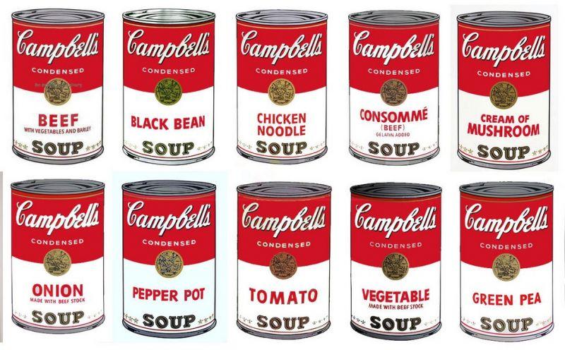 Andy Warhol Campbells Soup Andywarhol Reproduction De Andy Warhol Campbells Soup Andy Warhol Soup Cans Campbell S Soup Cans Campbell Soup