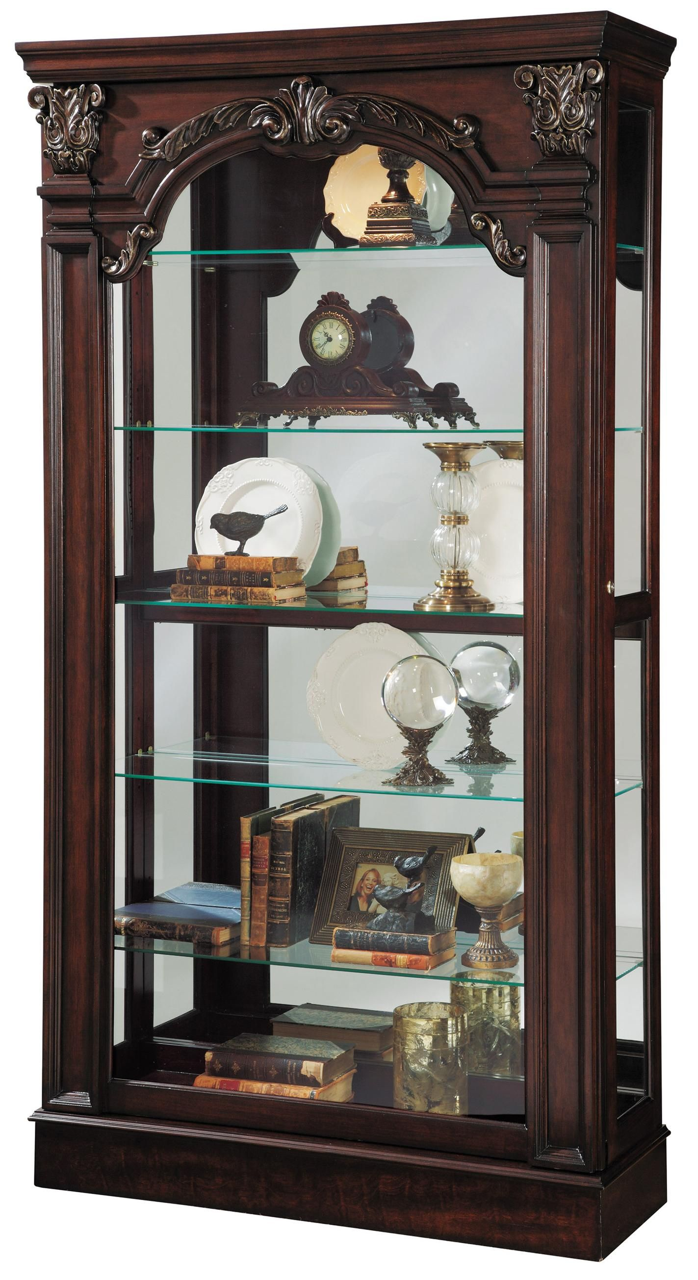 Curios Traditional Style Sliding Front Curio By Pulaski Furniture