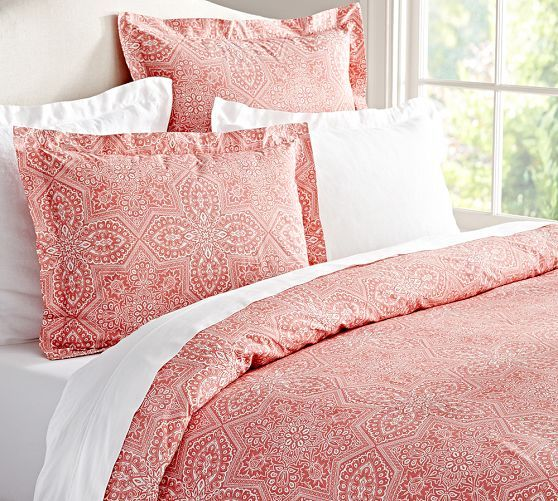 King Shams 39 Each Farrah Medallion Organic Duvet Cover Sham