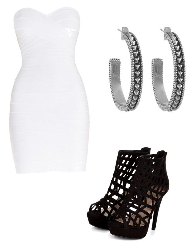 """""""Untitled #20"""" by flawlessboss on Polyvore featuring Hervé Léger and House of Harlow 1960"""