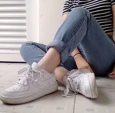 Image result for nike air force 1 white tumblr outfit