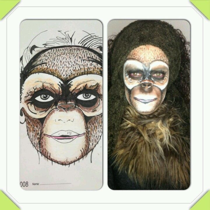 Monkey MakeUp | Body Painting Flower Kryolan | Pinterest ... - photo#25