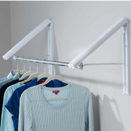 Quikcloset Wall Mounted Garment Rack