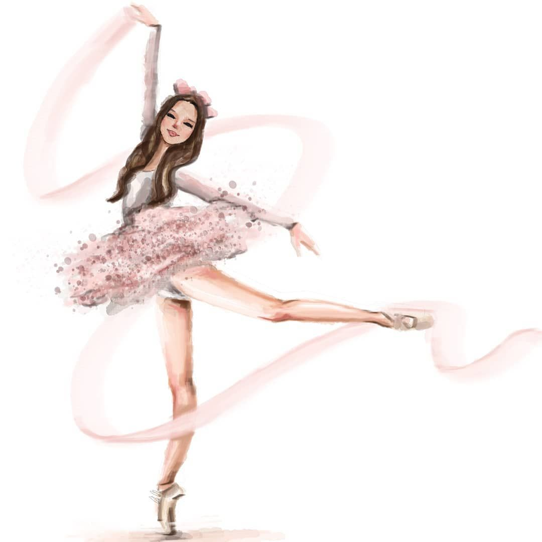 Style Of Brush On Instagram Dance With Your Heart And Your Feet Will Follow Ballerina Art Ballet Drawings Ballet Painting