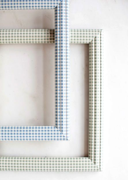 FRAMES: Display family photos in J. Pocker\'s gingham-printed frames ...