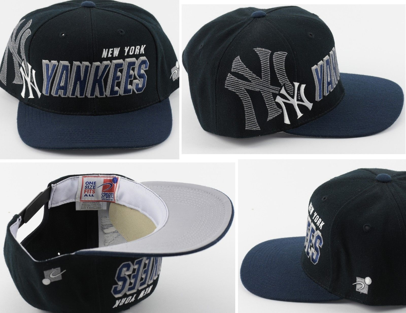 98ce0b02c8e0b Vintage New York Yankees Sports Specialties Shadow Script Snapback Hat Cap  MLB