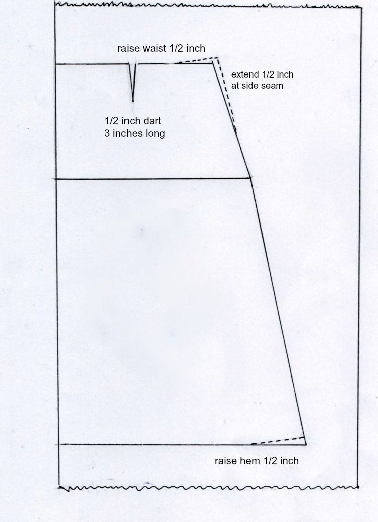 Drafting an a-line skirt | Crafts: Clever Crafts | Pinterest ...