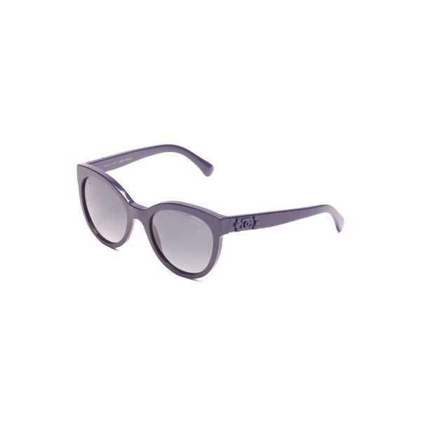f3c01cdf50d Pre-Owned Chanel Dark Blue Pantos Signature Polarized Sunglasses ( 250) ❤  liked on Polyvore featuring accessories