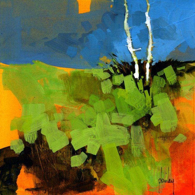 Original acrylic semi-abstract landscape painting by PaulBaileyArt