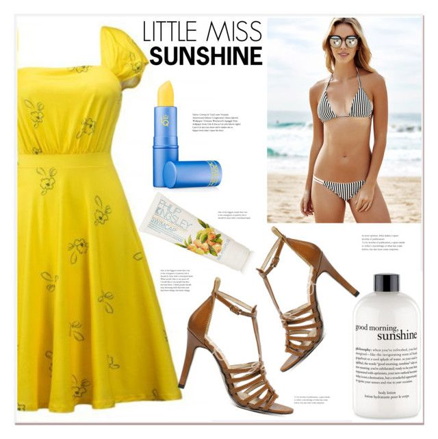 """""""Little Miss Sunshine"""" by mycherryblossom ❤ liked on Polyvore featuring philosophy, Lipstick Queen, Philip Kingsley and vintage"""