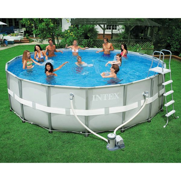 Intex Ultra Frame Round Above Ground Pool 18ft X 52in