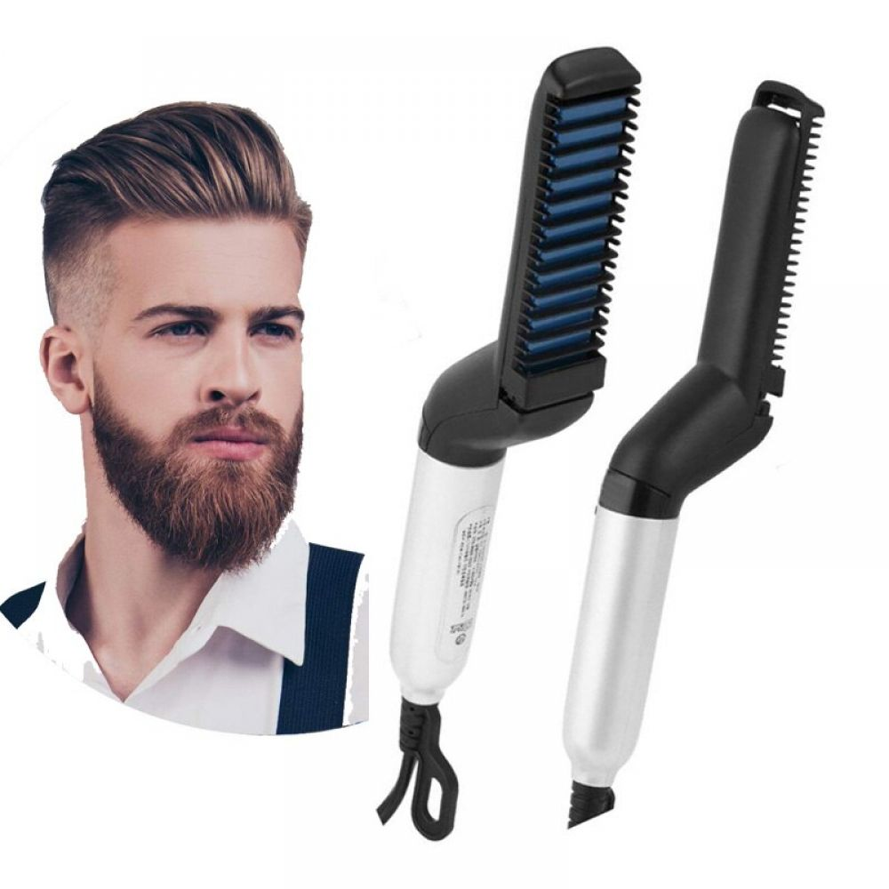 Beard And Hair Straightener For Men Multifunctional Electric Heating 28 82 Available At Bao Beard Straightening Straightening Curly Hair Straightening Comb