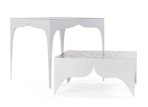Macmamau engraved stamped and painted modern italian furniture