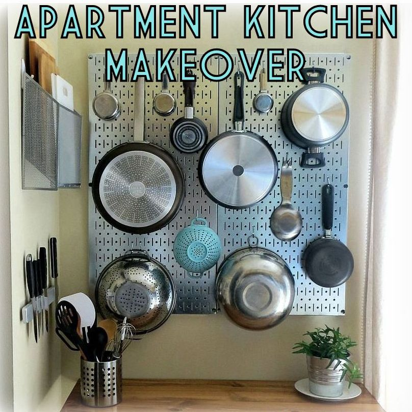 Apartment Kitchen Makeover Pegboard The Decor Guru (808×808) | Kitchen  Pegboard Ideas | Pinterest | Apartment Kitchen, Kitchen Pegboard And Blank  Canvas