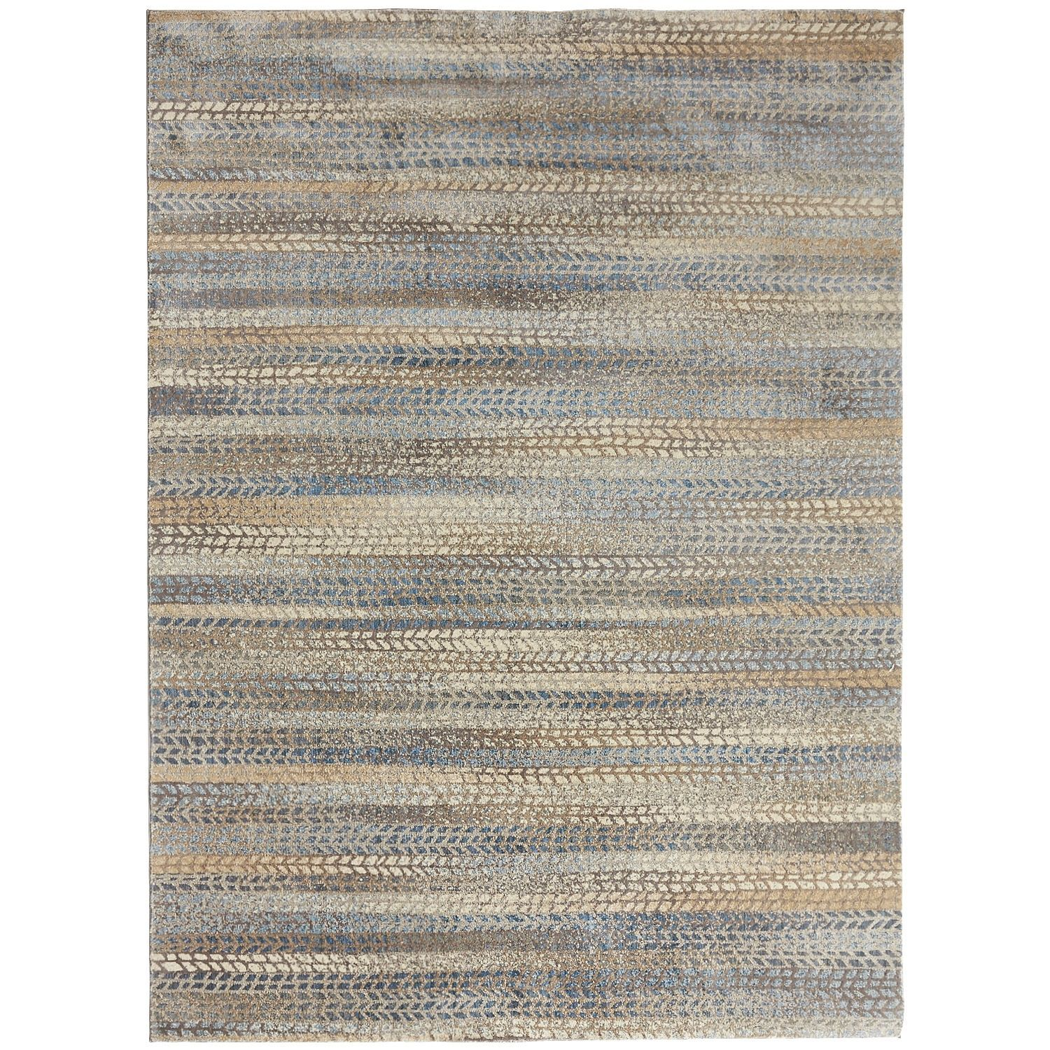 Atley Striped 8x10 Rug Blue