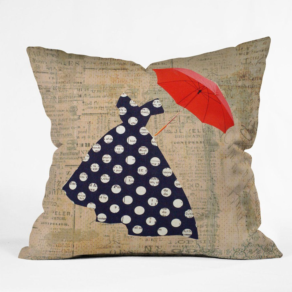 Irena Orlov Red Umbrella Throw Pillow | DENY Designs Home Accessories