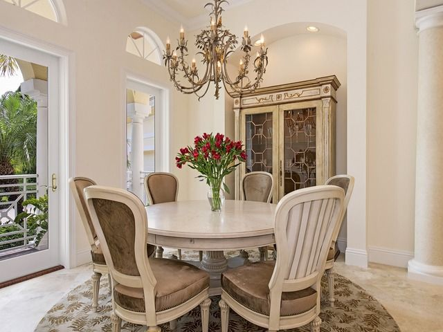 Off Market Traditional Dining Room With Wine Cellar Round