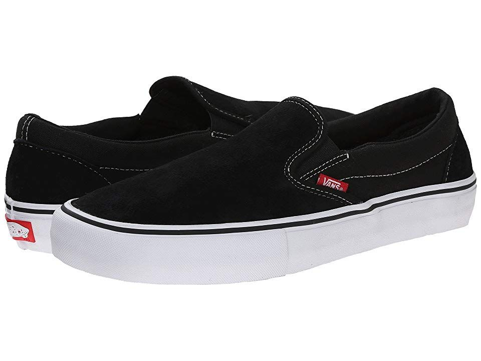 Vans SlipOn Pro BlackWhiteGum Mens Skate Shoes A style so iconic it needs no introduction Keep it moving with the classic Cali style of the Vans SlipOn Pro Features a cla...