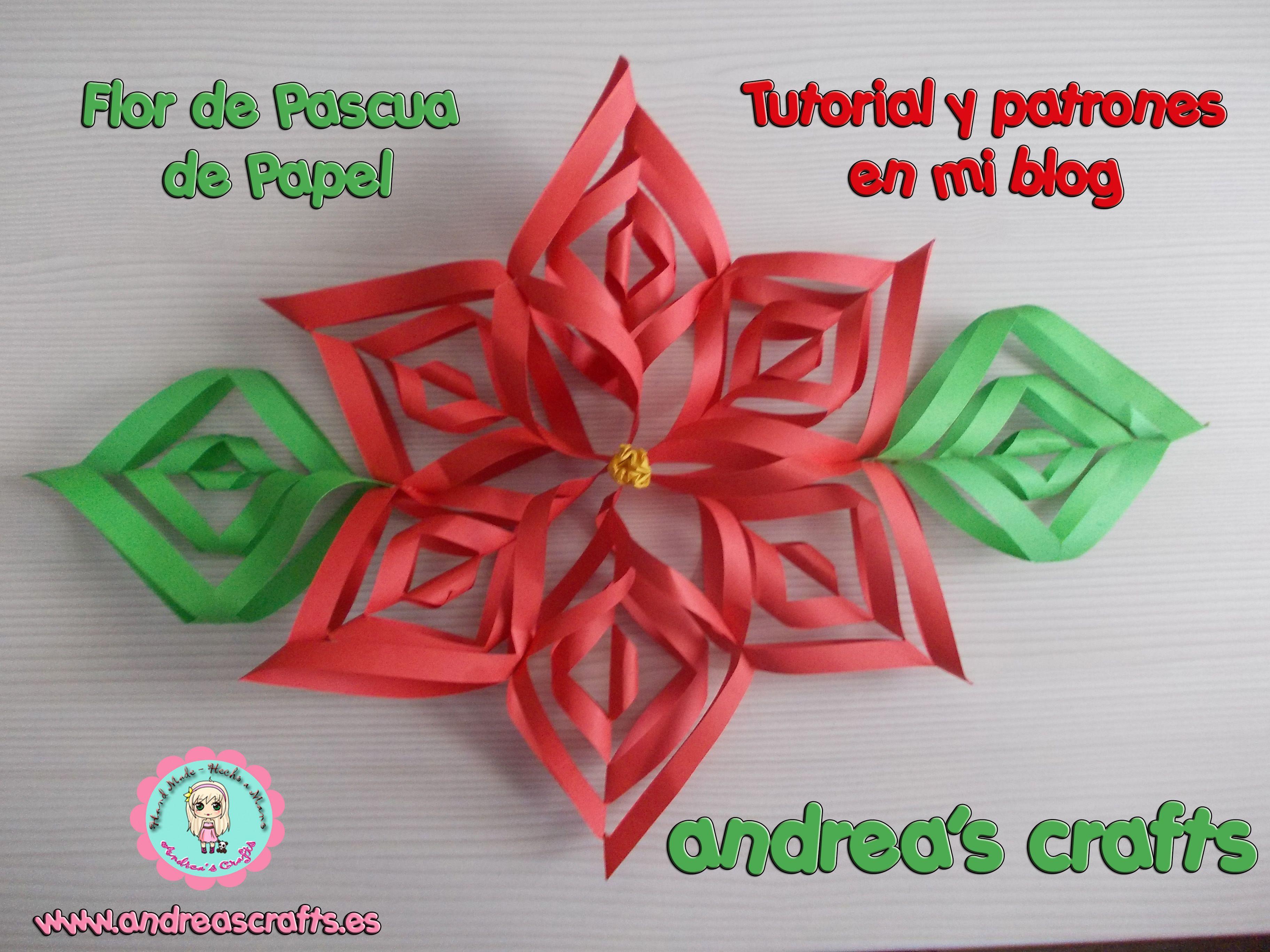 Flor de pascua de papel aprender manualidades es for Manualidades pascua