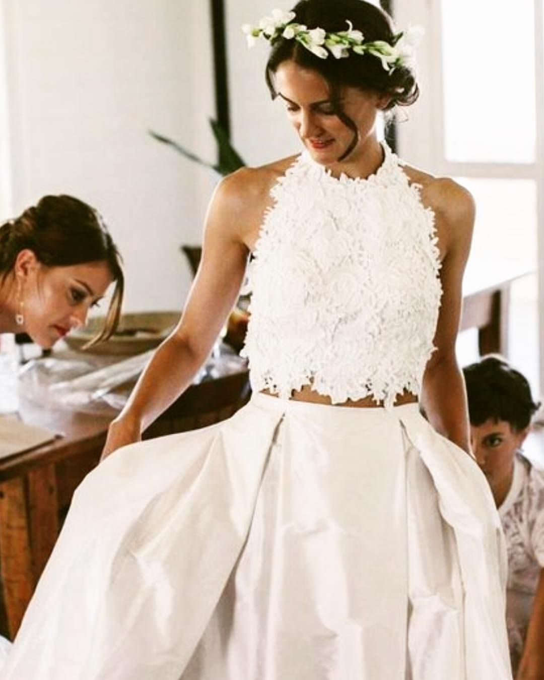 Piece Wedding Dress With Pockets All About The Details Way