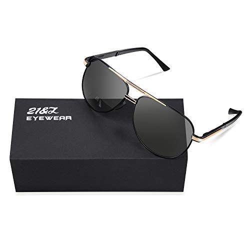 305a9b164 21&Z Men Premium Classic Aviator Polarized Sunglasses 100% UV Protection  Sun Glasses Shades