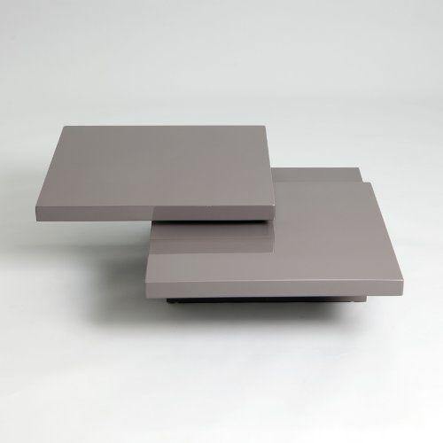 Keena Functional Swivel Top High Gloss Coffee Table Grey White Gloss Coffee Table Coffee Table Grey Contemporary Coffee Table
